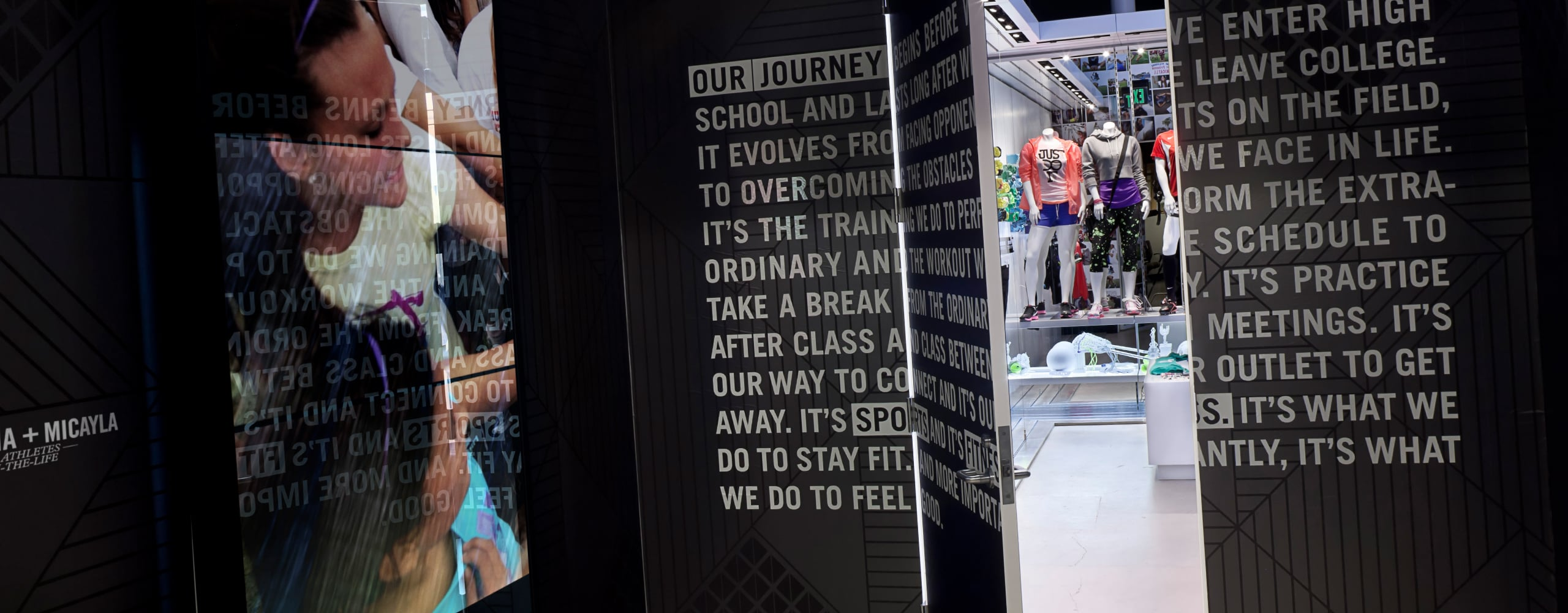 Banner for Nike Stand for Her Ignite Space Retail Environment