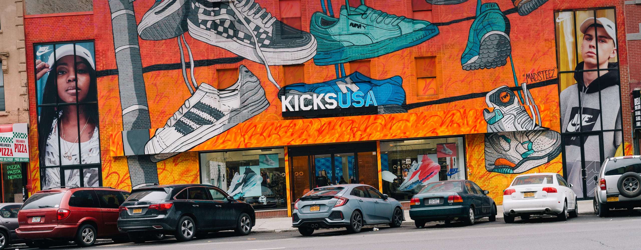 Banner for Nike AM270 Retail Launch in NYC Branded Environment