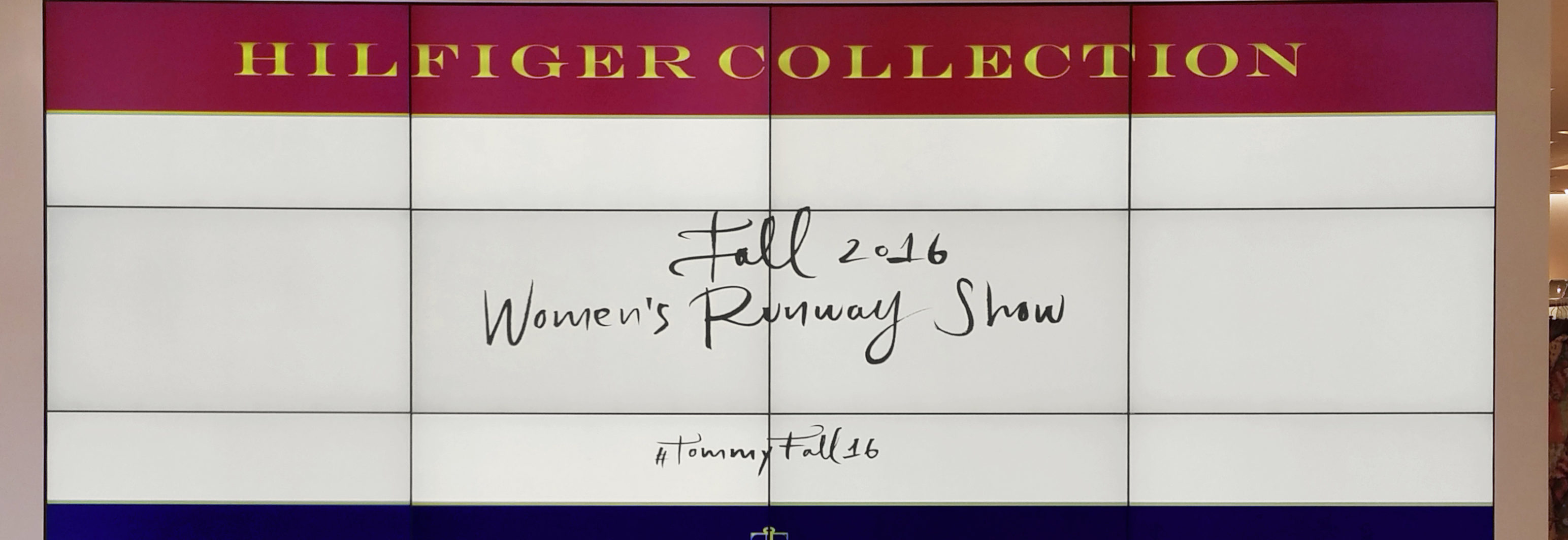 Banner for Tommy Hilfiger Popup Retail Environment