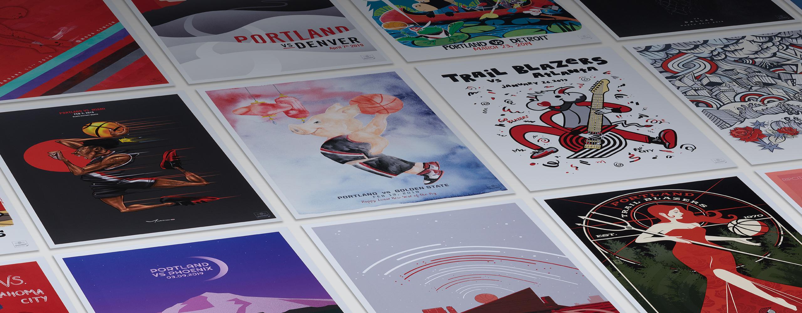 Blazers collectors postcards
