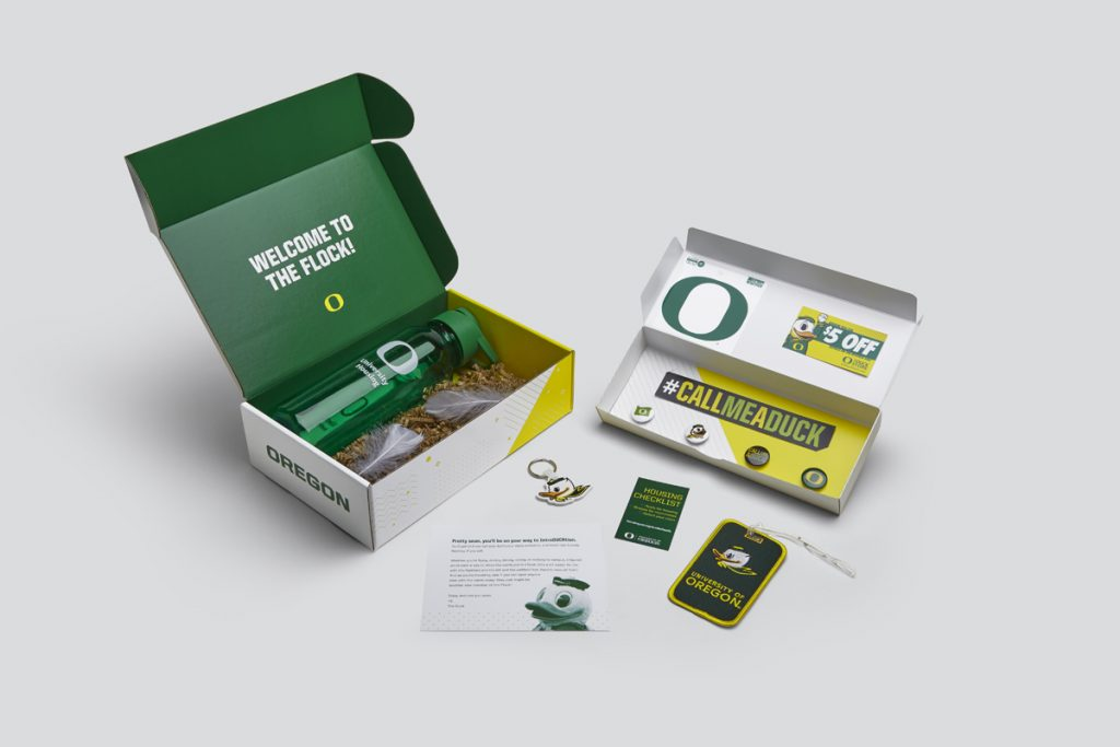 University of Oregon Welcome Box Swag