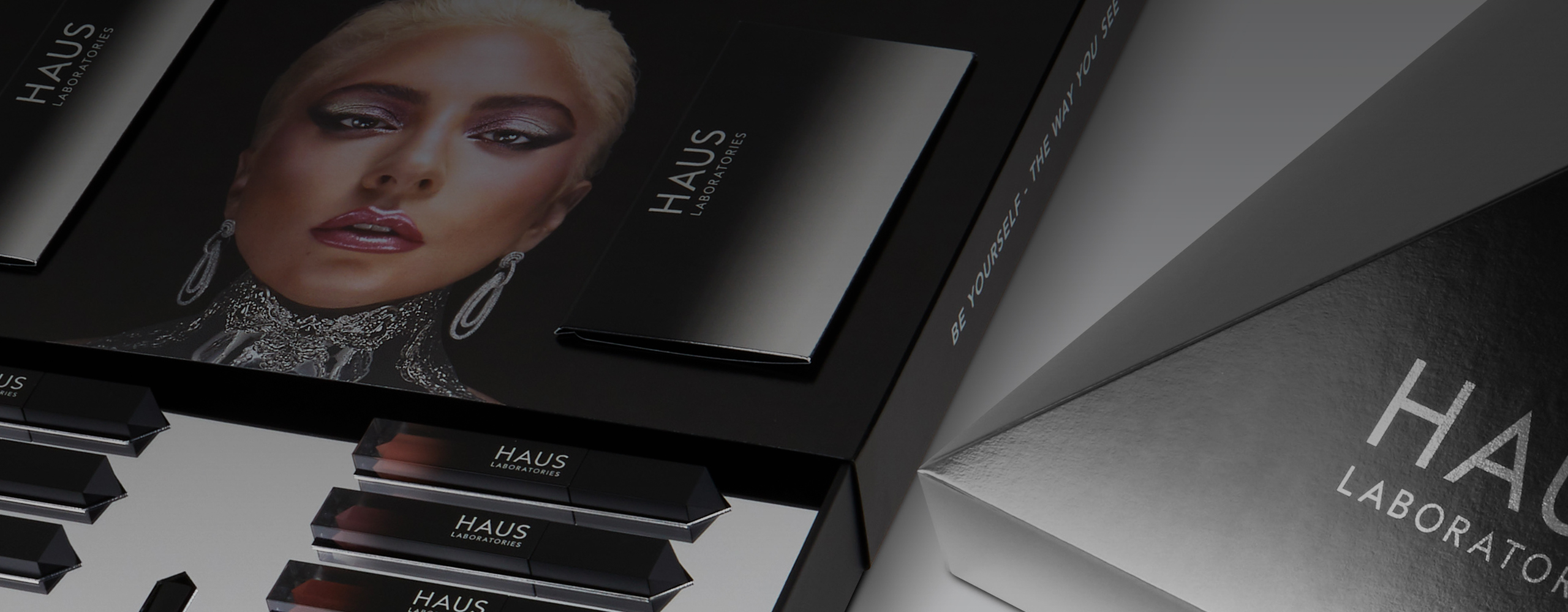 Banner graphics for Haus Laboratories Brand Launch Kit