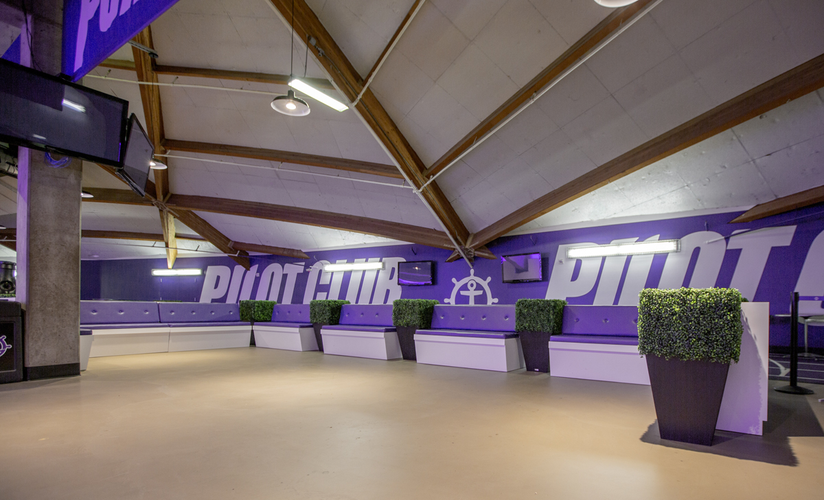 pilot club sports venue graphics
