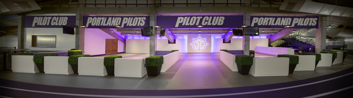 portland pilots club chiles center branded environment